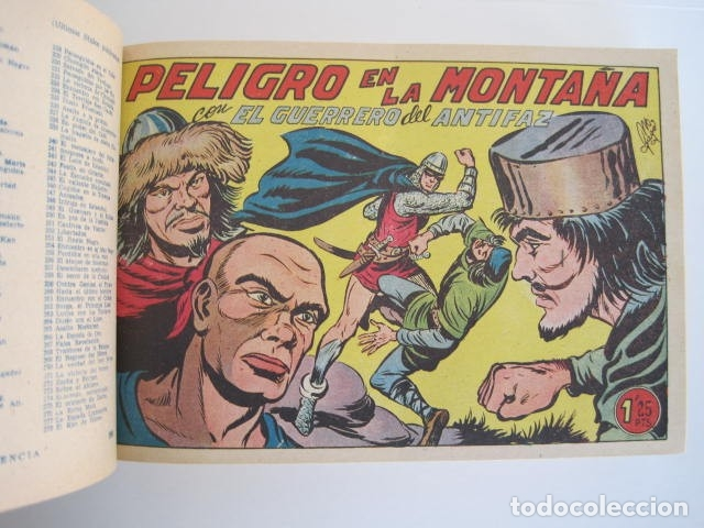 Tebeos: CÓMIC GUERRERO DEL ANTIFAZ. 4 TOMOS, NÚMEROS 1-362. EDITORIAL VALENCIANA. 1958. ENCUADERNADO. - Foto 28 - 175932008