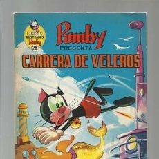 Tebeos: LIBROS ILUSTRADOS PUMBY 28: CARRERA DE VELEROS, 1970, VALENCIANA, BUEN ESTADO. Lote 175958804