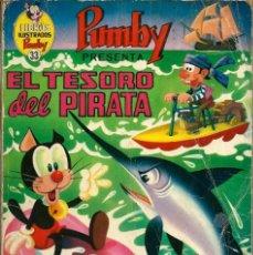 Tebeos: LIBROS ILUSTRADOS PUMBY Nº 33 - EL TESORO DEL PIRATA - ED. VALENCIANA - UNICO EN TODOCOLECCION. Lote 176097173