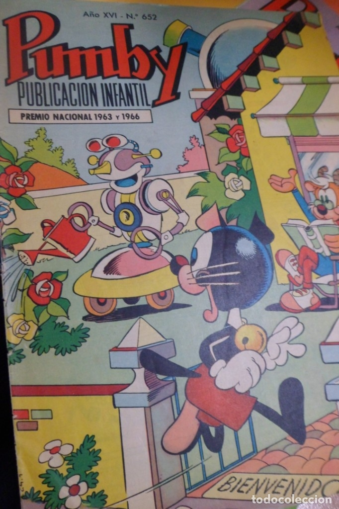 PUMBY PUBLICACIÓN INFANTIL AÑO XVI - Nº 652 VALENCIANA. 1970 (Tebeos y Comics - Valenciana - Pumby)