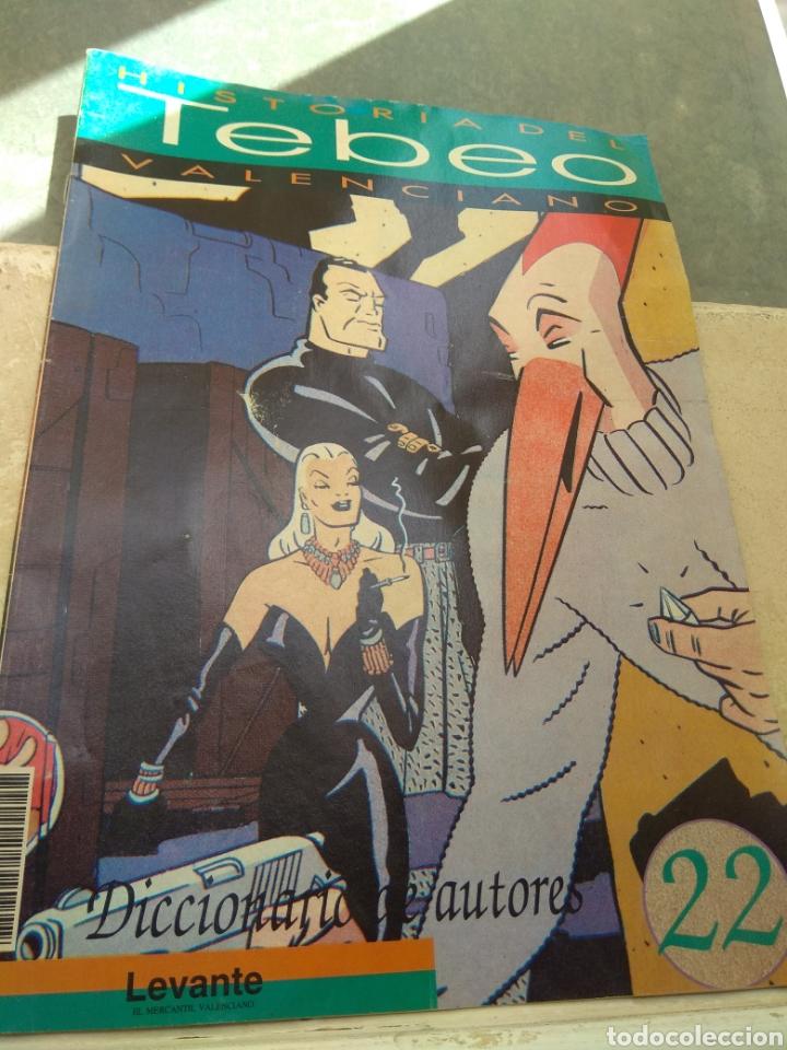 FASCÍCULO HISTORIA DEL TEBEO VALENCIANO - LEVANTE 1992 - N°22 - DICCIONARIO DE AUTORES - LEER - (Tebeos y Comics - Valenciana - Otros)