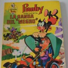 Tebeos: LIBROS ILUSTRADOS PUMBY Nº 40 - LA BANDA DEL NEGRO - ED. VALENCIANA 1971 - MUY BUEN ESTADO. Lote 177333957