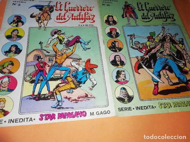 Tebeos: EL GUERRERO DEL ANTIFAZ . CAPITAN TRUENO. EL AGUILUCHO. JEQUE BLANCO. LOTE. - Foto 2 - 177585708