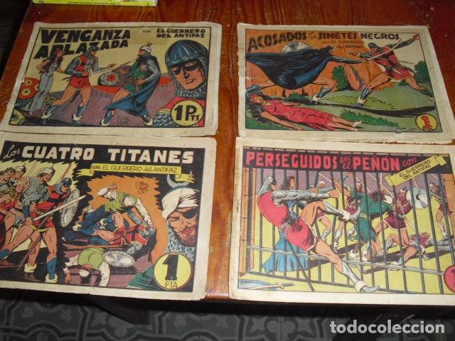 EL GUERRERO DEL ANTIFAZ - 4 EJEMPLARES DE 1 PTA. (Tebeos y Comics - Valenciana - Guerrero del Antifaz)