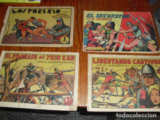 3 EJEMPLARES DEL HOMBRE ENMASCARADO Y UN EJEMPLAR DEL PATRIOTA - (Tebeos y Comics - Valenciana - Guerrero del Antifaz)