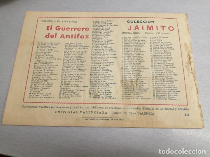 Tebeos: GUERRERO DEL ANTIFAZ Nº 111 / VALENCIANA ORIGINAL - Foto 2 - 177988462