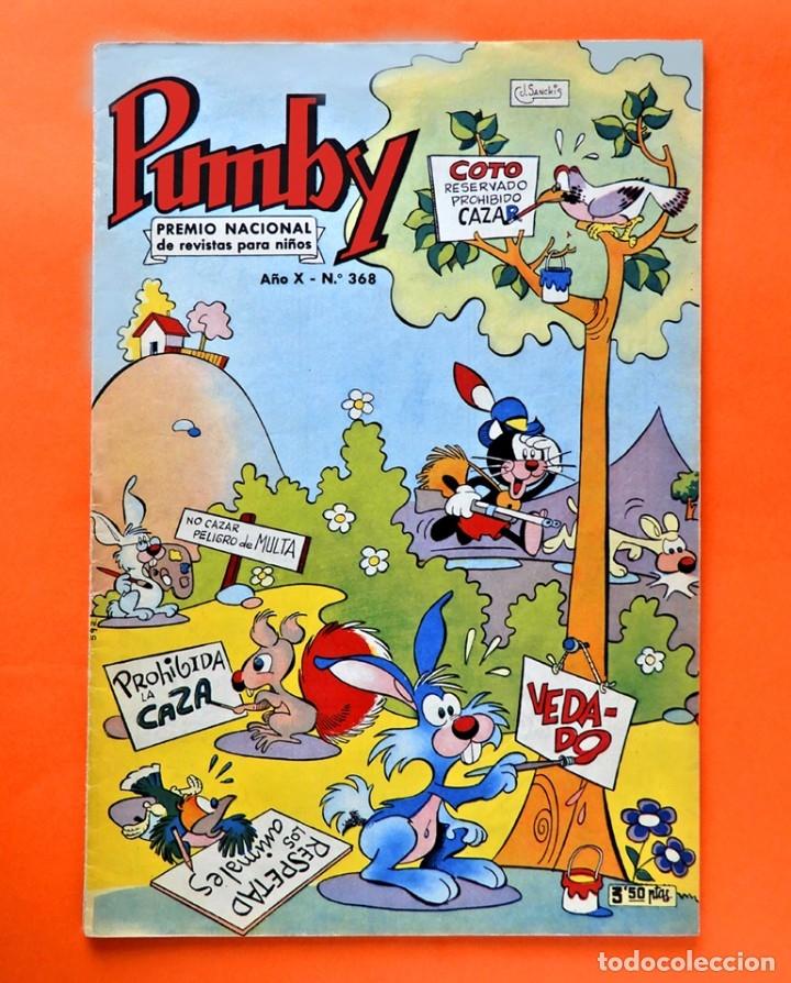 PUMBY - AÑO X - Nº 368 - PREMIO NACIONAL 1963 - AUTOR J.SANCHIS - EDITORIAL VALENCIANA, ORIGINAL (Tebeos y Comics - Valenciana - Pumby)
