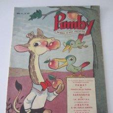 Tebeos: PUMBY Nº 87 - ORIGINAL - NOVIEMBRE 1958 -. Lote 178808323