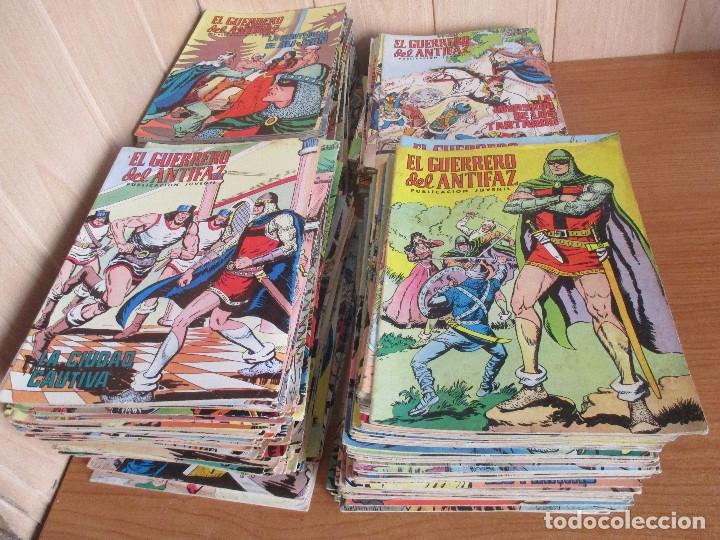 LOTE DE 297 EJEMPLARES : EL GUERRERO DEL ANTIFAZ (1972) VALENCIANA (Tebeos y Comics - Valenciana - Guerrero del Antifaz)