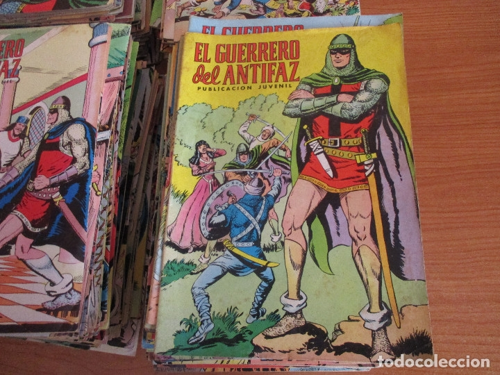 Tebeos: LOTE DE 297 EJEMPLARES : EL GUERRERO DEL ANTIFAZ (1972) VALENCIANA - Foto 2 - 178872113
