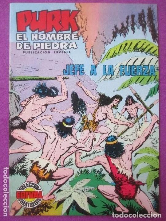 TEBEO PURK EL HOMBRE DE PIEDRA, Nº 70, JEFE A LA FUERZA, VALENCIANA, (Tebeos y Comics - Valenciana - Purk, el Hombre de Piedra)