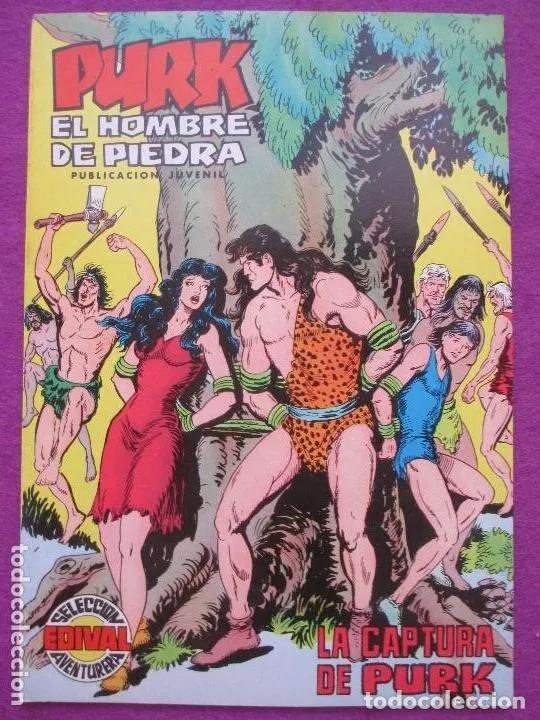 TEBEO, VALENCIANA, PURK EL HOMBRE DE PIEDRA, LA CAPTURA DE PURK, NUM.81 (Tebeos y Comics - Valenciana - Purk, el Hombre de Piedra)