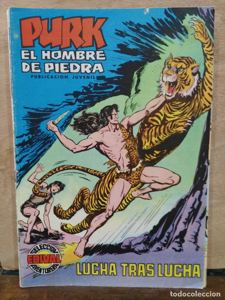 PURK, EL HOMBRE DE PIEDRA - Nº 39, LUCHA TRAS LUCHA - ED. VALENCIANA (Tebeos y Comics - Valenciana - Purk, el Hombre de Piedra)