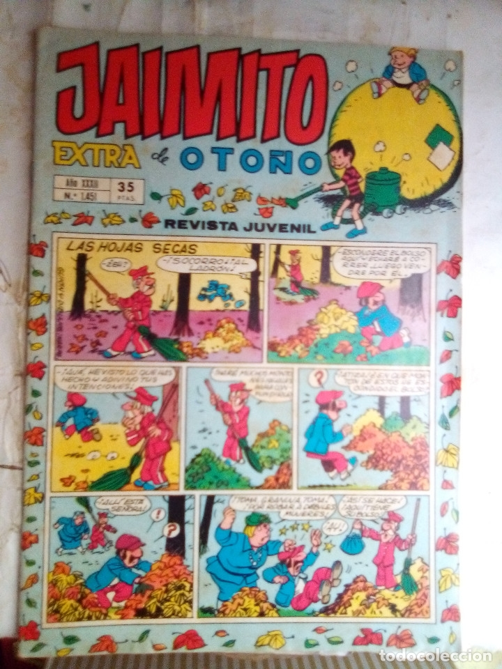 JAIMITO-SEMANAL- Nº 1451 -EXTRA DE OTOÑO-1977-PALOP-NIN-KARPA-SANCHIS-CERDÁN-DIFÍCIL-BUENO-2166 (Tebeos y Comics - Valenciana - Jaimito)