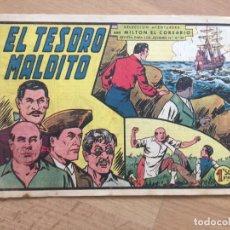 Tebeos: MILTON EL CORSARIO, Nº 39 - VALENCIANA, ORIGINAL - GCH. Lote 180089827