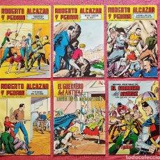 Tebeos: LOTE 6 COMICS (4 ROBERTO ALCAZAR Y PEDRIN) + (2 EL GUERRERO DEL ANTIFAZ).. Lote 180254243