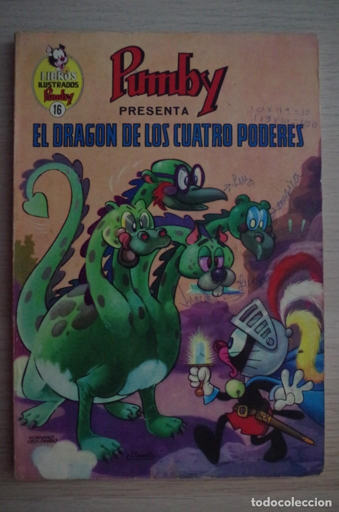 LIBROS ILUSTRADOS PUMBY Nº 16 EL DRAGON DE LOS CUATRO PODERES - VALENCIANA 1969 (Tebeos y Comics - Valenciana - Pumby)