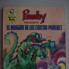 Tebeos: LIBROS ILUSTRADOS PUMBY Nº 16 EL DRAGON DE LOS CUATRO PODERES - VALENCIANA 1969. Lote 180434980