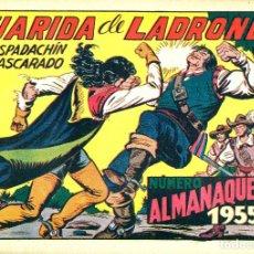Tebeos: EL ESPADACHÍN ENMASCARADO. ALMANAQUE 1955. NUEVO SIN ABRIR.. Lote 180509283
