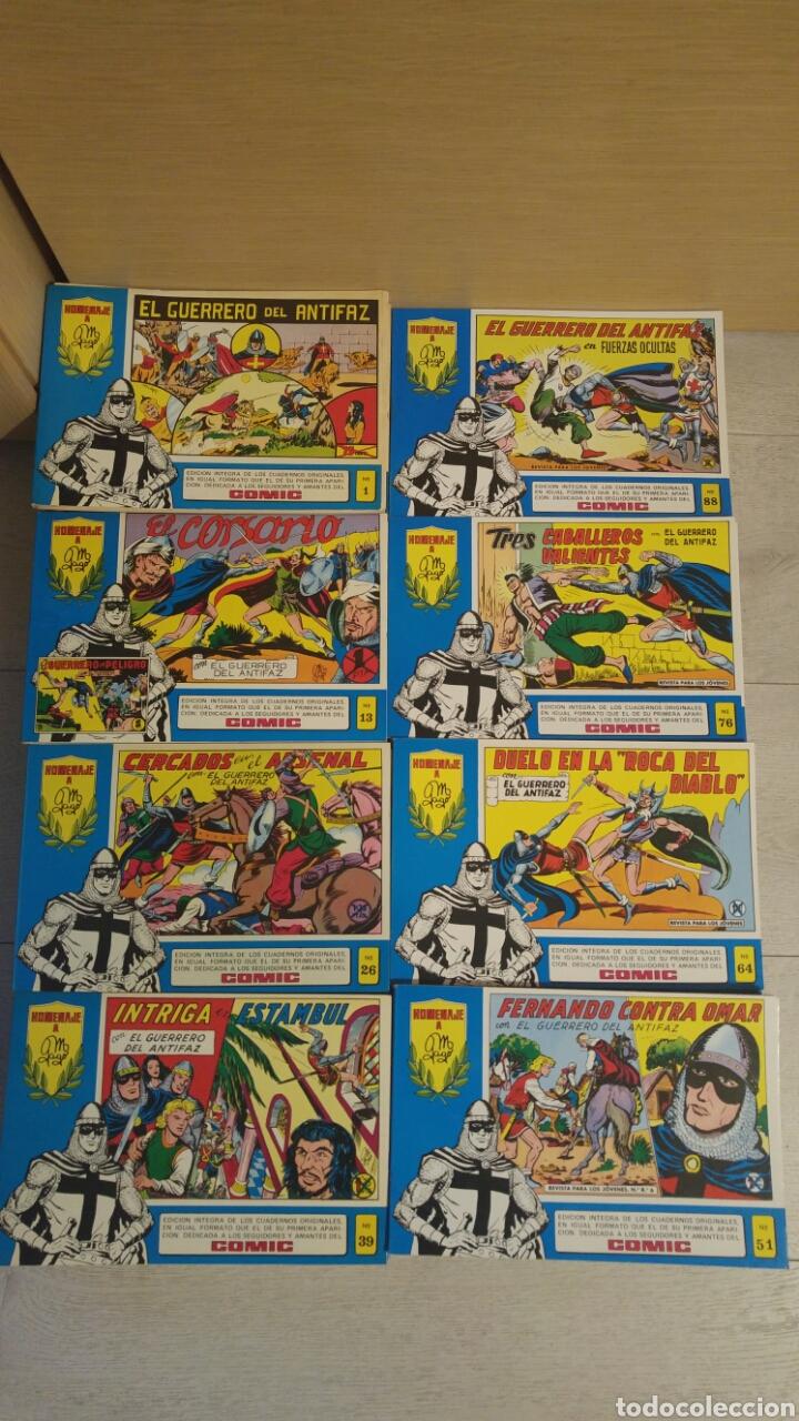 GUERRERO DEL ANTIFAZ COLECCION COMPLETA DE 98 TOMOS EDITORIAL VALENCIANA 1981 (Tebeos y Comics - Valenciana - Guerrero del Antifaz)
