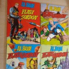 Tebeos: LOTE DE 4 TOMOS DE ALBUM DE FLASH GORDON ( 1, 2, 3, 4) DE EDITORIAL VALENCIANA 1979. Lote 180969261