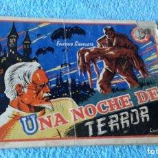 Tebeos: COLECCION SOL (ESTELLER )-1941 - UNA NOCHE DE TERROR -EPISODIO COMPLETO. Lote 181563141