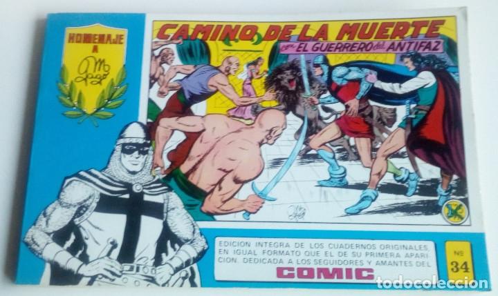 EL GUERRERO DEL ANTIFAZ - HOMENAJE A MANUEL GAGO - Nº 34 (Tebeos y Comics - Valenciana - Guerrero del Antifaz)