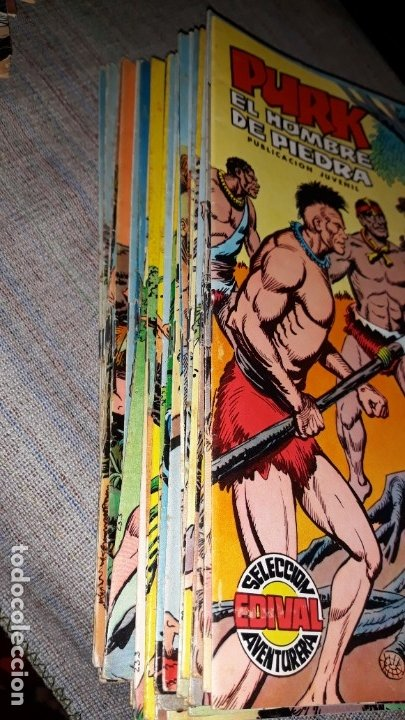 Tebeos: lote comic purk el hombre de piedra del 11 al 49, seleccion edival 1974 - Foto 2 - 182208922
