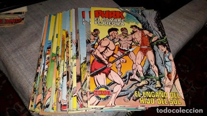 LOTE COMIC PURK EL HOMBRE DE PIEDRA DEL 11 AL 49, SELECCION EDIVAL 1974 (Tebeos y Comics - Valenciana - Purk, el Hombre de Piedra)