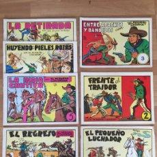 Tebeos: LOTE 7 EJEMPLARES EL PEQUEÑO LUCHADOR (DEL 1 AL 7) - VALENCIANA, FACSIMIL - GCH. Lote 182359636