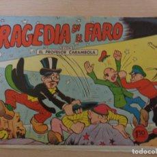 BDs: PROFESOR CARAMBOLA NÚM 10. TRAGEDIA EN EL FARO. SELECCIONES CÓMICAS CASCABEL. VALENCIANA 1961. Lote 182412567