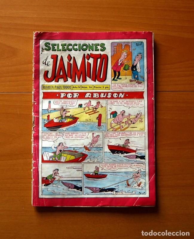 SELECCIONES DE JAIMITO, Nº 36, POR ABUSÓN - EDITORIAL VALENCIANA 1957 (Tebeos y Comics - Valenciana - Jaimito)