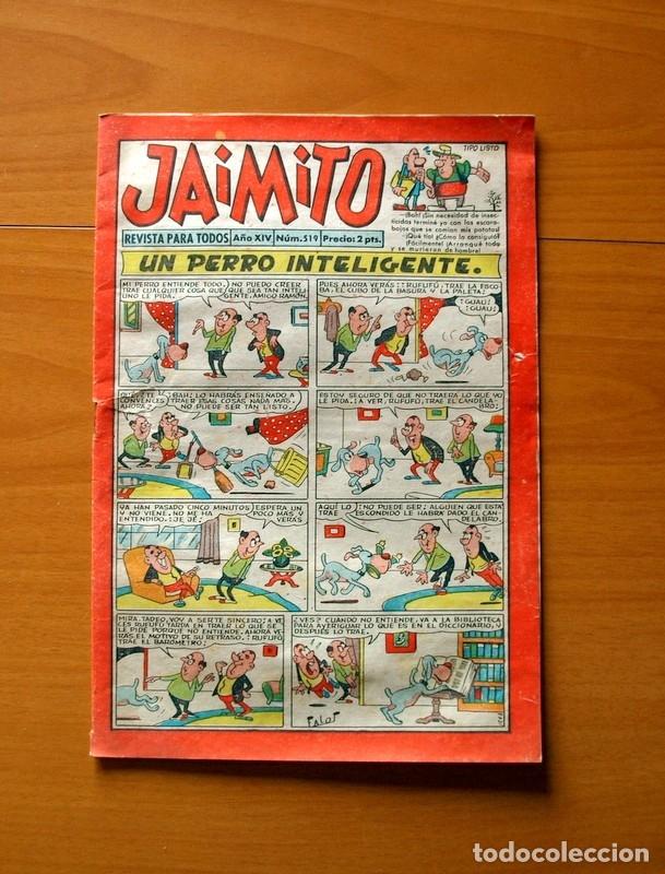 JAIMITO, Nº 519, UN PERRO INTELIGENTE - EDITORIAL VALENCIANA 1945 (Tebeos y Comics - Valenciana - Jaimito)