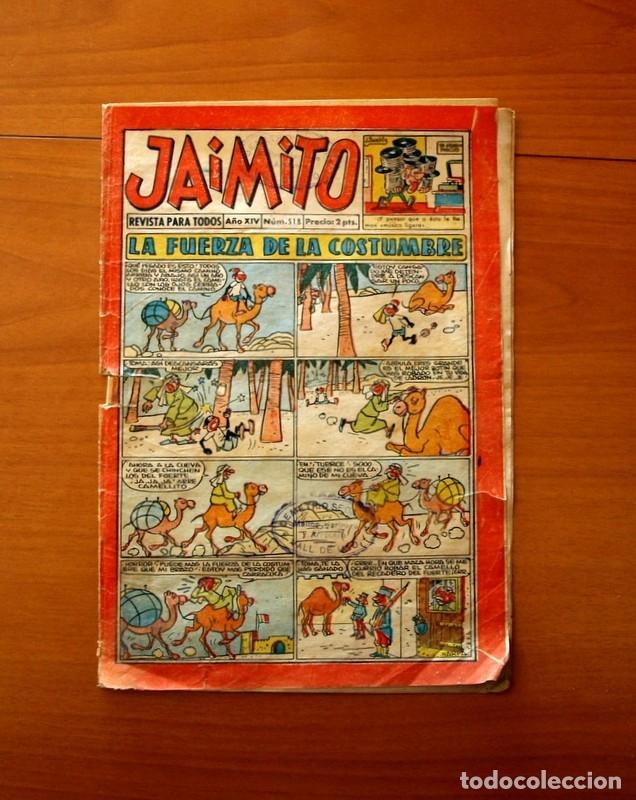 JAIMITO, Nº 518, LA FUERZA DE LA COSTUMBRE - EDITORIAL VALENCIANA 1945 (Tebeos y Comics - Valenciana - Jaimito)