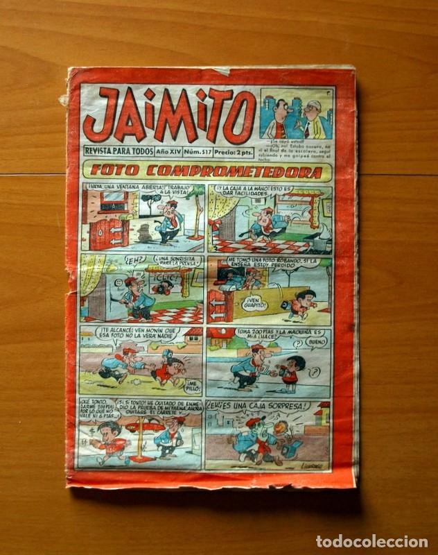 JAIMITO, Nº 517, FOTO COMPROMETEDORA - EDITORIAL VALENCIANA 1945 (Tebeos y Comics - Valenciana - Jaimito)