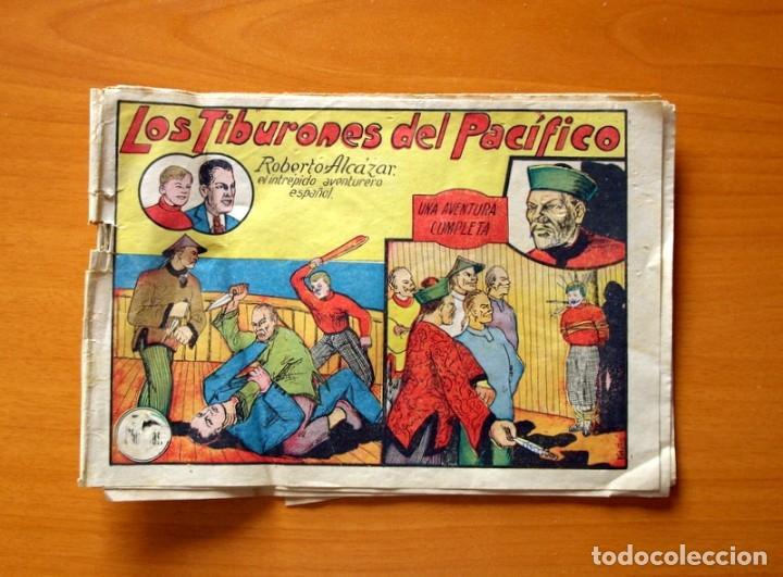 ROBERTO ALCÁZAR Y PEDRÍN - Nº 7, LOS TIBURONES DEL PACÍFICO - ORIGINAL EDITORIAL VALENCIANA (Tebeos y Comics - Valenciana - Roberto Alcázar y Pedrín)