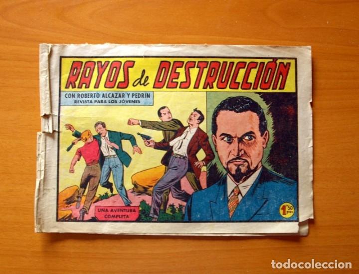 ROBERTO ALCÁZAR Y PEDRÍN - Nº 419, RAYOS DE DESTRUCCIÓN - ORIGINAL EDITORIAL VALENCIANA (Tebeos y Comics - Valenciana - Roberto Alcázar y Pedrín)