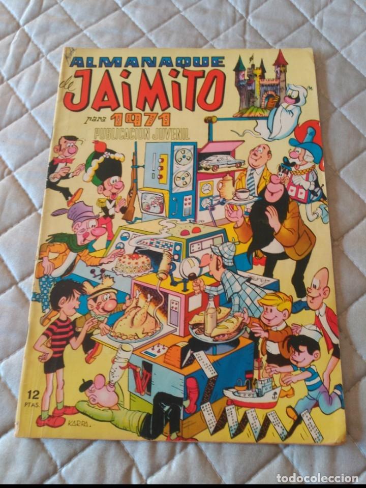 JAIMITO ALMANAQUE 1972 EXCELENTE ESTADO (Tebeos y Comics - Valenciana - Jaimito)