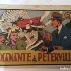 Tebeos: EL DIAMANTE DE PETERVILLE— LOMO ABIERTO. Lote 183080041