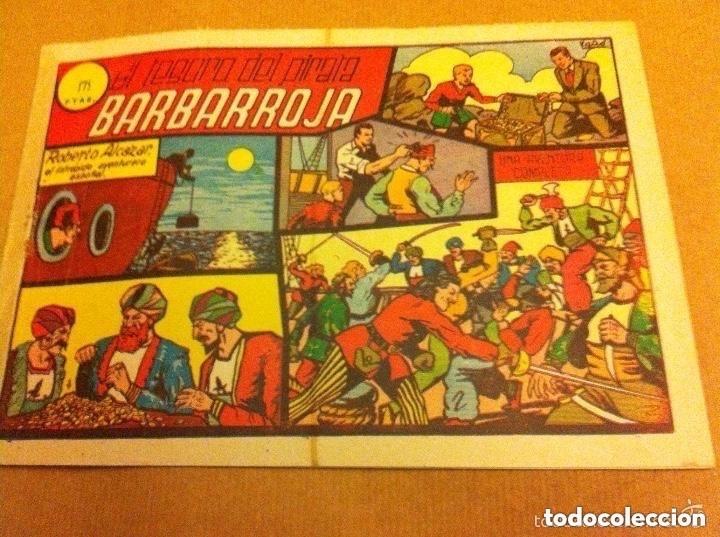 ROBERTO ALCAZAR Y PEDRIN -Nº. 22- (1,75 PTAS.)-BARBARROJA -LOMO REFORZADO CON CELO (Tebeos y Comics - Valenciana - Roberto Alcázar y Pedrín)