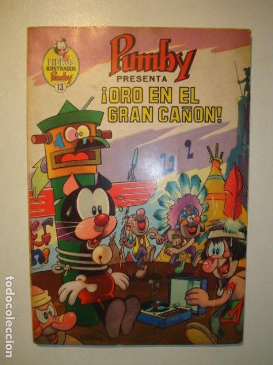 LIBROS ILUSTRADOS PUMBY. Nº 13. ¡ORO EN EL GRAN CAÑÓN!. VALENCIANA 1969 (Tebeos y Comics - Valenciana - Pumby)
