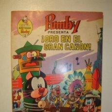 Tebeos: LIBROS ILUSTRADOS PUMBY. Nº 13. ¡ORO EN EL GRAN CAÑÓN!. VALENCIANA 1969. Lote 183434595