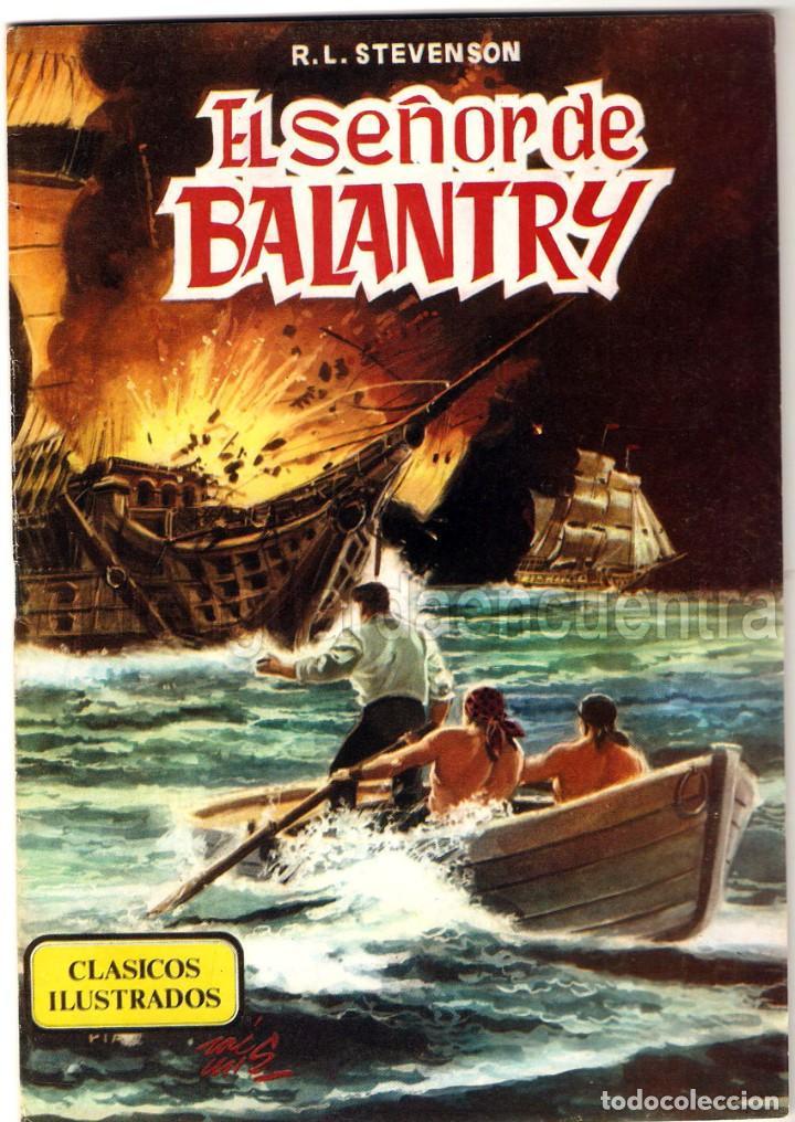 EL SEÑOR DE BALANTRY CLÁSICOS ILUSTRADOS Nº 5 EDITORIAL VALENCIANA-1984-JULIO VERNE 1984 NUEVO (Tebeos y Comics - Valenciana - Otros)