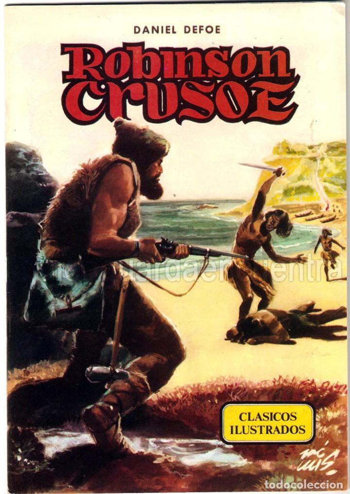 ROBINSON CRUSOE CLÁSICOS ILUSTRADOS Nº 3 EDITORIAL VALENCIANA-1984-DANIEL DEFOE 1984 NUEVO (Tebeos y Comics - Valenciana - Otros)