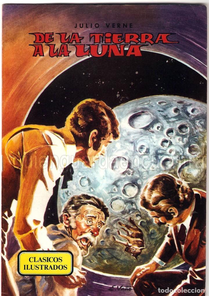 DE LA TIERRA A LA LUNA CLÁSICOS ILUSTRADOS Nº 4 EDITORIAL VALENCIANA-1984-JULIO VERNE NUEVO (Tebeos y Comics - Valenciana - Otros)