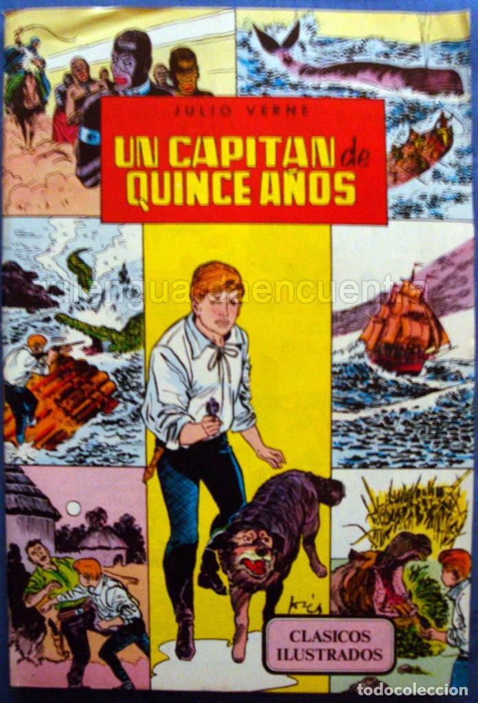 UN CAPITÁN DE 15 AÑOS CLÁSICOS ILUSTRADOS Nº 6 EDITORIAL VALENCIANA-1984-JULIO VERNE NUEVO (Tebeos y Comics - Valenciana - Otros)