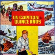 Tebeos: UN CAPITÁN DE 15 AÑOS CLÁSICOS ILUSTRADOS Nº 6 EDITORIAL VALENCIANA-1984-JULIO VERNE NUEVO. Lote 183494108