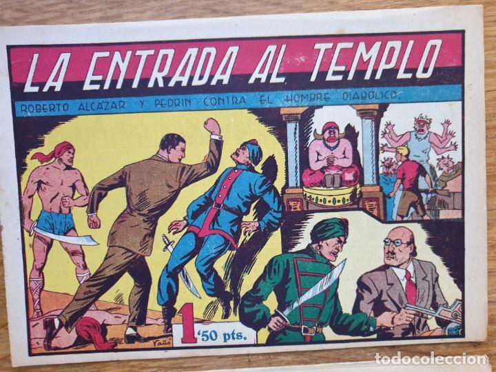 LA ENTRADA EN EL TEMPLO Y EL FINAL DEL TRIO MALDITO (Tebeos y Comics - Valenciana - Roberto Alcázar y Pedrín)