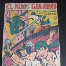 Tebeos: HIJO DE LAS GALERAS, EL (1950, GARGA) 9 · 26-XII-1950 · EL TRIUNFO DEL TURCO. Lote 184793763