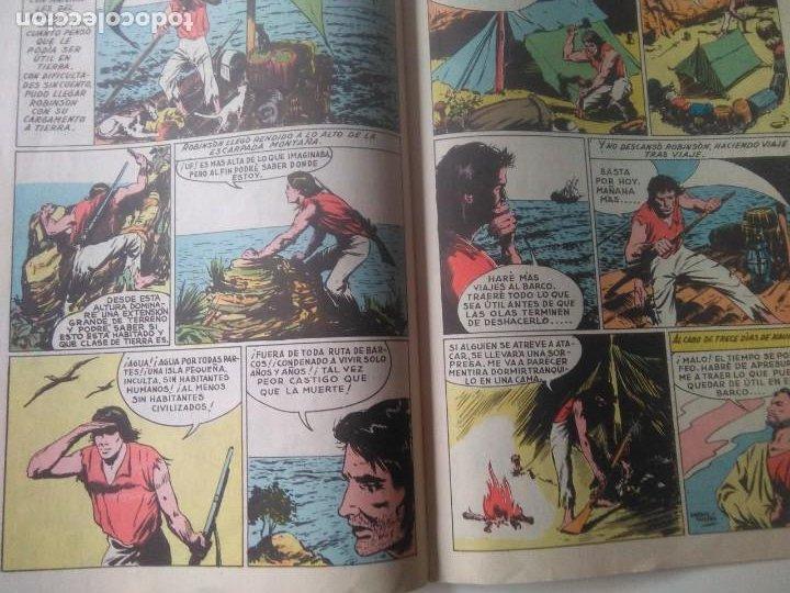 Tebeos: CLASICOS ILUSTRADOS Nº 3 ROBINSON CRUSOE / VALENCIANA 1984 - Foto 2 - 184876018